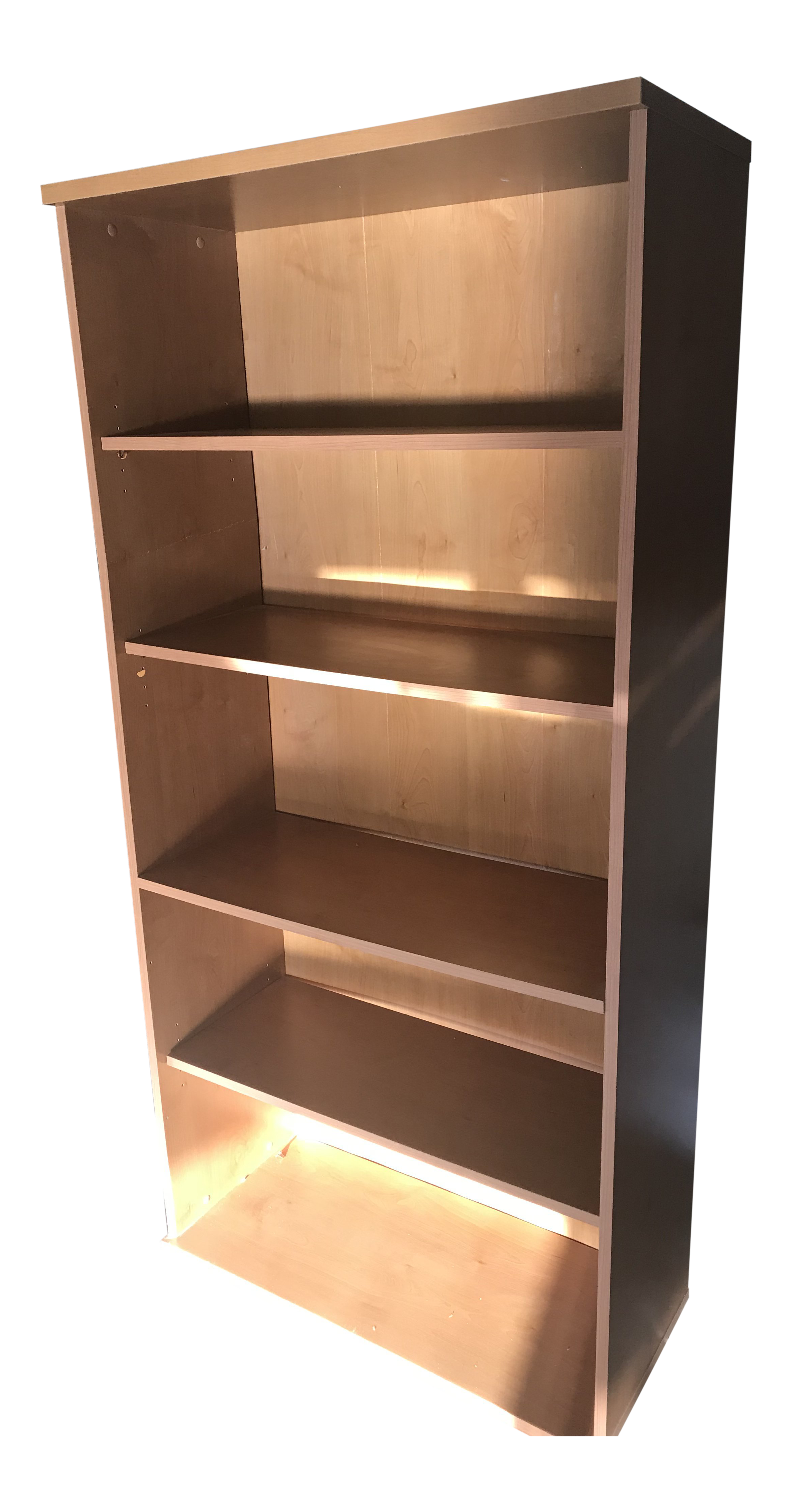 Cherry Laminated Wood Finish, 5 Adjustable Shelf Bookcase