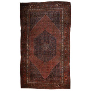 Antique Persian Bijar Gallery Rug with Modern Style