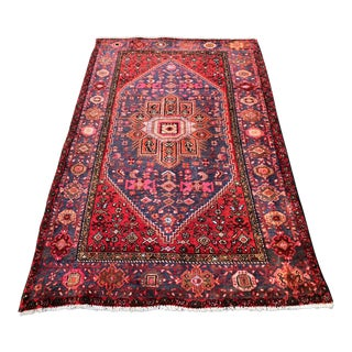 "Vintage Persian Hamadan Rug - 3'11"" x 6'8"" For Sale"