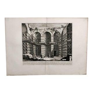 """Piranesi """"Crypt of Free Men"""" Engraving, Italy Circa 1760 For Sale"""