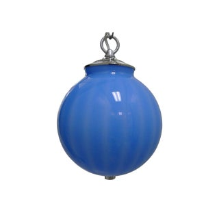 Mid-Century Murano Round Glass Pendant Light