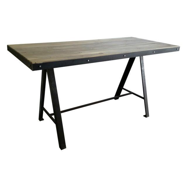 Vintage Industrial Reclaimed Table - Image 1 of 7