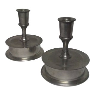 1970s Candlestick Holders - a Pair For Sale