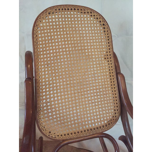 Thonet 1960s Vintage Thonet Style Bentwood Rocking Chair For Sale - Image 4 of 12