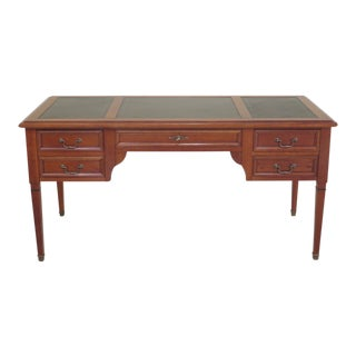 1980s Vintage Grange French Style Cherry Leather Top Desk For Sale