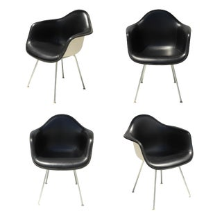 Black Eames Arm Shell Chairs - Set of 4