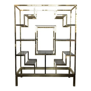 Italian Brass Etagere For Sale