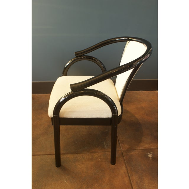 Chinoiserie Black Lacquer Armchair - Image 4 of 6