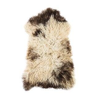 "Contemporary Natural Wool Sheepskin Pelt - 2'0""x3'4"" For Sale"