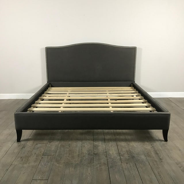 Crate & Barrel Upholstered King Bed - Image 2 of 11