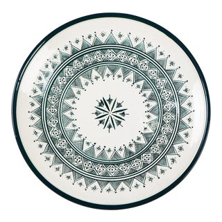 Zitouna Green & White Plate For Sale