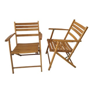 Mid-Century Telescope Furniture Co. Folding Chairs - A Pair