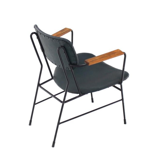 Danish Modern Mid-Century Danish Modern Bent Wire Frame Wood Arm Dining / Side Chair For Sale - Image 3 of 10