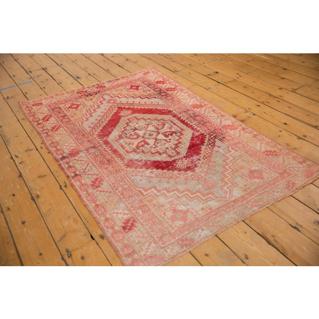 "Old New House Vintage Distressed Oushak Rug - 3'8"" X 5'8"" For Sale - Image 4 of 12"