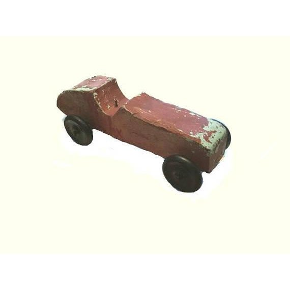 Handmade Race Car Pull Toy - Image 3 of 8