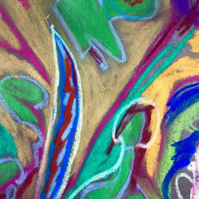 Original Pastel Drawing by Erik Sulander on Paper 13 x 12 unframed, signed