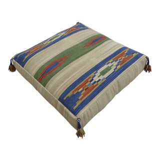 Hand Woven Floor Cushion Pillow - 33″ X 33″