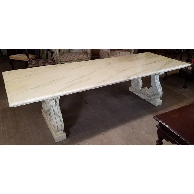 Vintage Faux Marble Grecian Dining Table For Sale - Image 4 of 7
