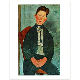 1940s Amedeo Modigliani Portrait of a Boy, Swiss Lithograph For Sale