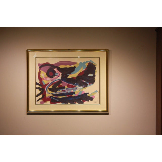 Karel Appel Lithograph by Karel Christiaan Appel Signed and Numbered For Sale - Image 4 of 7