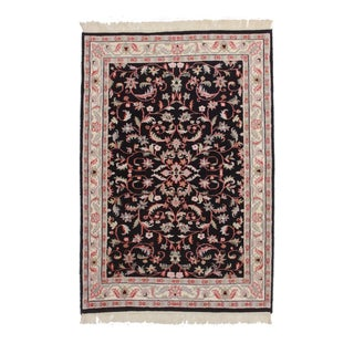 Persian Style Hand-Knotted Wool Area Rug For Sale