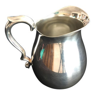 1960s Reed & Barton Holloware Silver Pitcher For Sale