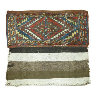 Antique Turkeman Bagface Textile Rug