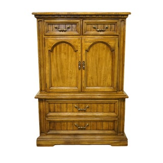 20th Century Italian Dixie Furniture Door Chest on Chest/Armoire For Sale