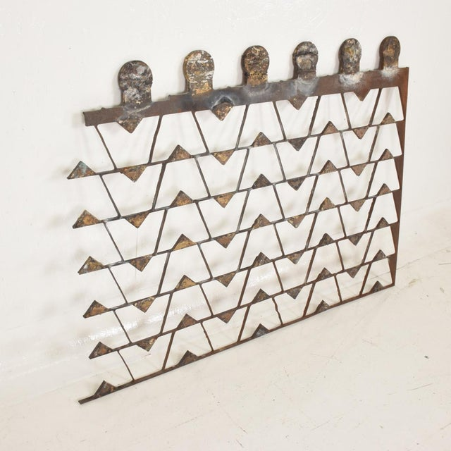 Mexican Modernist Metal Art Room Divider Screen For Sale In San Diego - Image 6 of 9