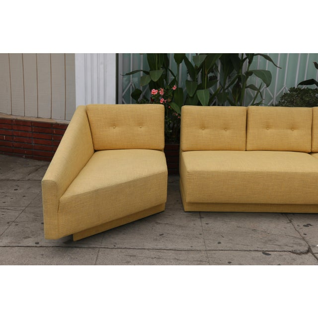 Fabric Yellow Sectional Sofa For Sale - Image 7 of 11