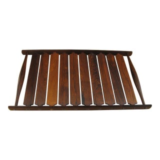 1960s Slatted Rosewood Tray by Jens Quistgaard For Sale