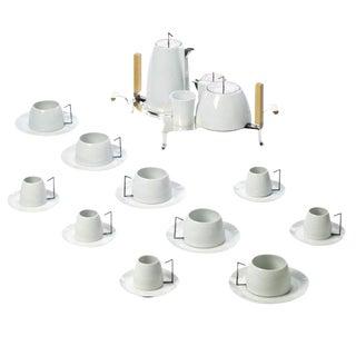 Modern Alvaro Siza Tea Set - Set of 25 For Sale