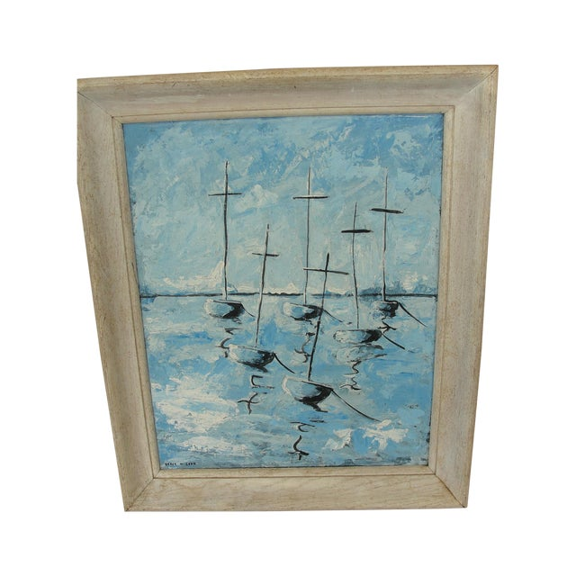 Mid-Century Modern Abstract Impressionist Painting - Image 1 of 7