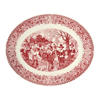 "1960s Homer Laughlin Bountiful Harvest 22"" Oval Serving Platter For Sale"