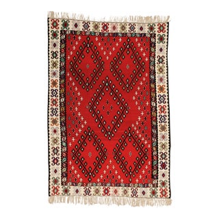 Vintage Bessarabia Kilim Rug - 6′8″ × 9′6″ For Sale
