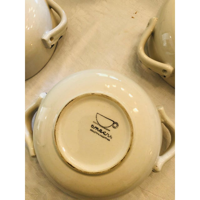 Cream Vintage French Style Soup Set - 5 Piece Set For Sale - Image 8 of 10