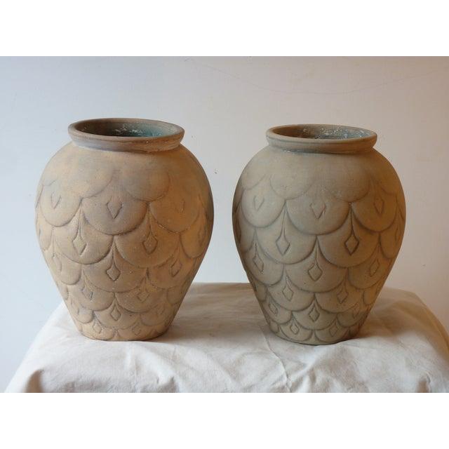 Mid-Century Ceramic Garden Urns - A Pair - Image 2 of 5