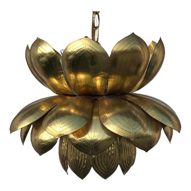Feldman Brass Lotus Chandelier Lamp - Image 1 of 9