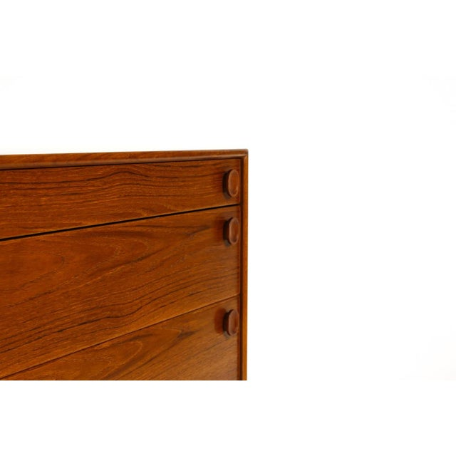 Brown 1960s Mid Century Modern Meredew Teak Upright Dresser For Sale - Image 8 of 9