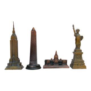 Vintage American Monument Souvenirs, Set of 4 For Sale