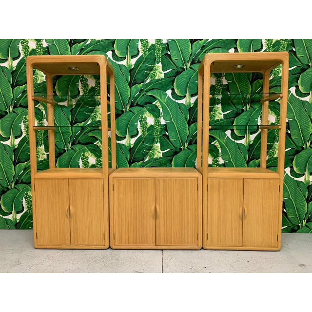 Split Reed Rattan Wall Unit in the Manner of Gabriella Crespi For Sale - Image 13 of 13