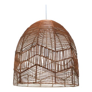 Wicker Chandelier Pendant Lamp Light For Sale