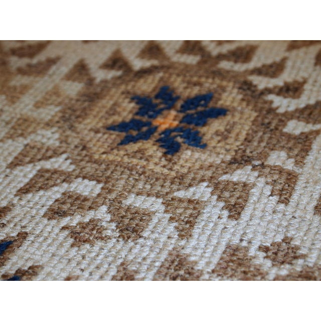 1890s Hand Made Antique Afghan Baluch Rug - 2′1″ × 3′9″ - Image 3 of 10