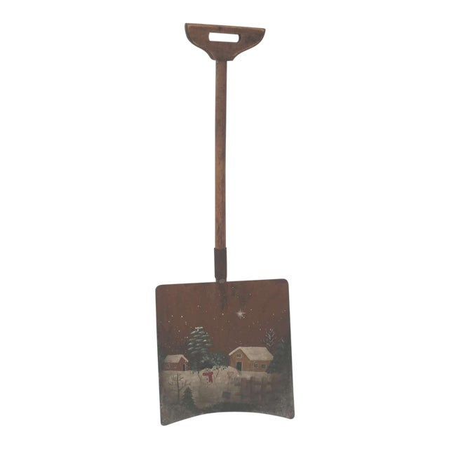 Early Original Paint Decorated Children's Shovel For Sale
