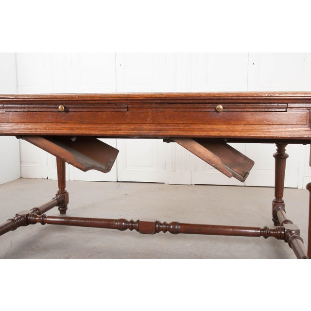 19th Century 19th Century French Oak Sewing Table For Sale - Image 5 of 13