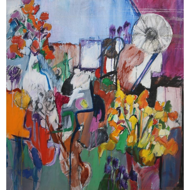 Modern Abstract Expressionist Still Life Painting - Image 1 of 4
