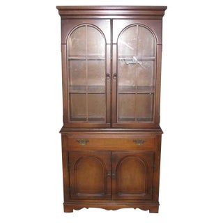 1950s Walnut Hutch From Fort Lauderdale Estate