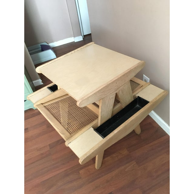 Vintage Mid-Century Modern Side Table With Planters - Image 4 of 6