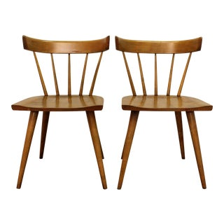 Mid-Century Danish Modern Paul McCobb Spindle Back Side Dining Chairs - a Pair