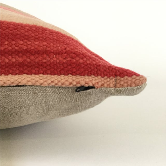 Vintage Flatweave Moroccan Pillows - A Pair - Image 4 of 4